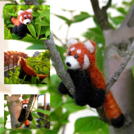 red panda felted