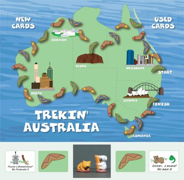 Trekin Australia Gameboard